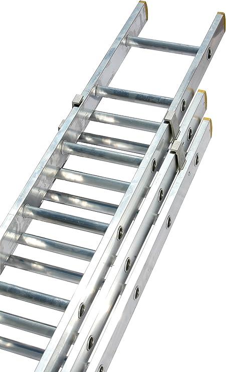 Triple 10 escalones escalera extensible (gbx330 Lewis escaleras Pro gama): Amazon.es: Bricolaje y herramientas