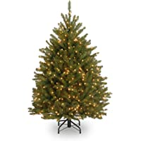 National Tree Company 4-1/2-Feet Dunhill Fir Tree with 450 Clear Lights