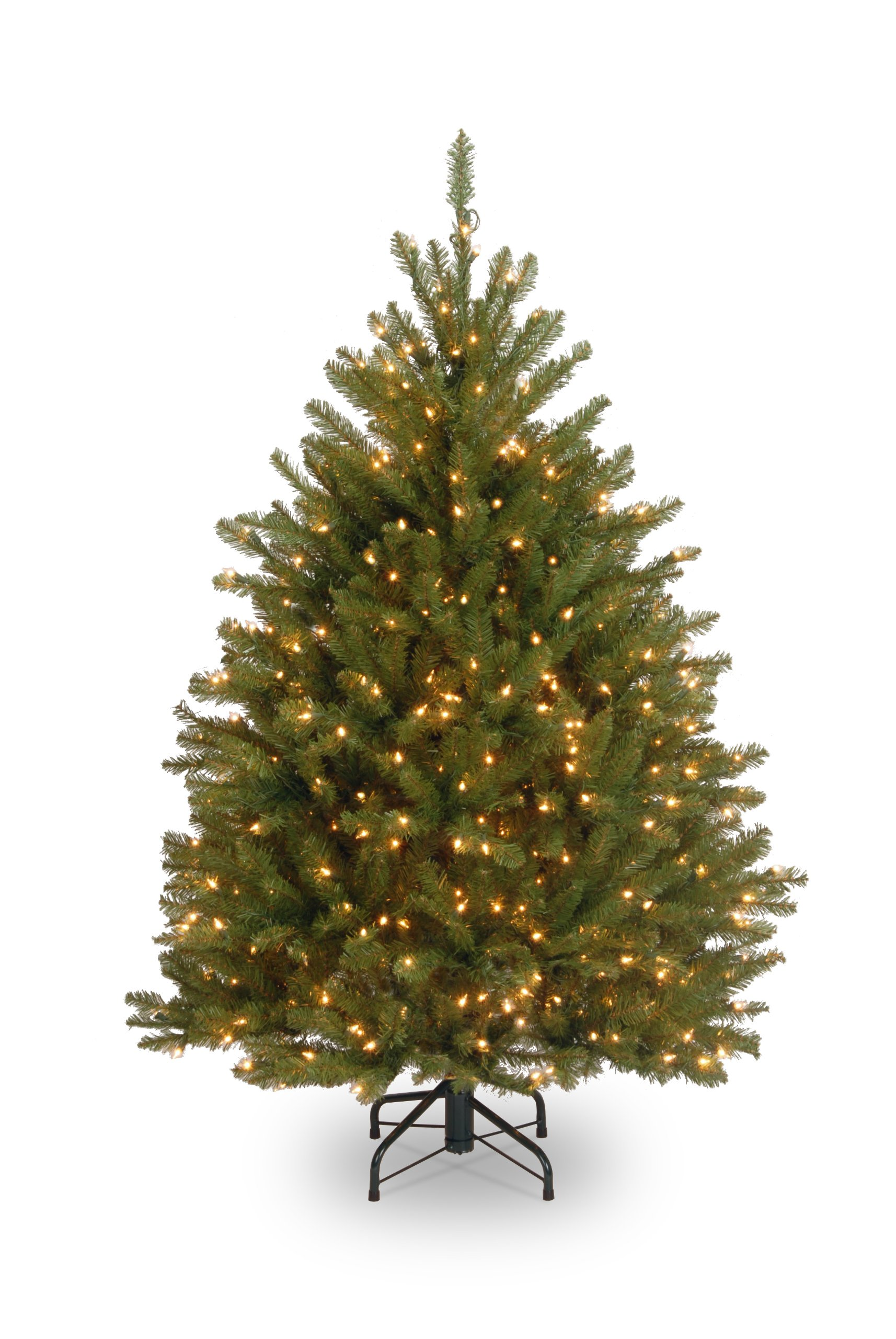 National Tree 4-1/2 Foot Dunhill Fir Tree with 450 Clear Lights (DUH3-45LO) by National Tree Company