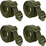 MAGARROW 80' Packing Straps with Ladder Lock Adjustable Buckle Webbing (Army Green (4-Pack), 80')
