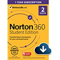 Deals on Norton 360 Student Edition 2021 Antivirus Software 2 Devices Digital