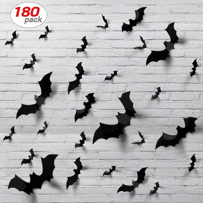 Amazon Com 180pcs Halloween Bats Decor Home Decor Sticker