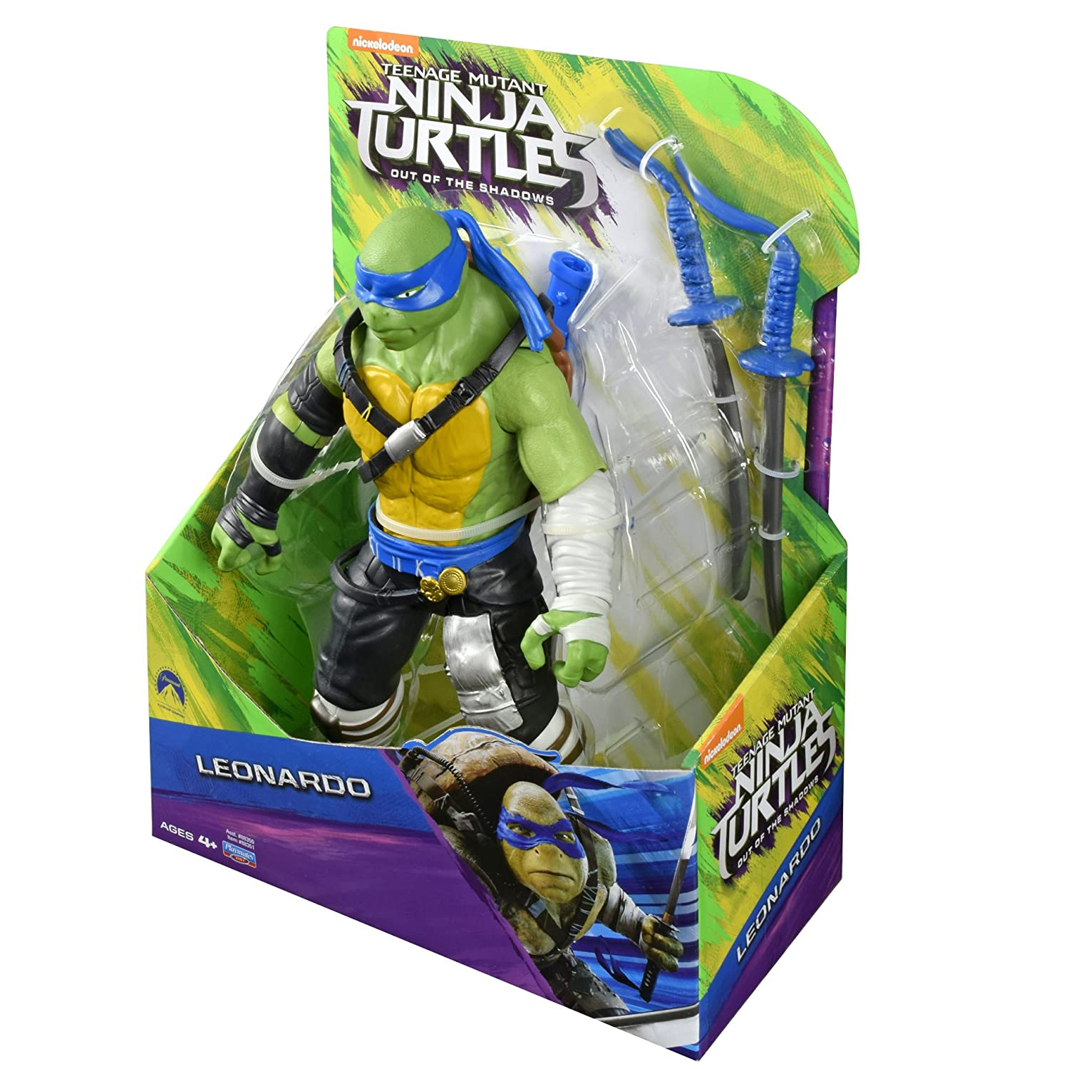 TORTUGAS MOVIE 2. FIGURA DE 28 CM LEONARDO: Amazon.es ...