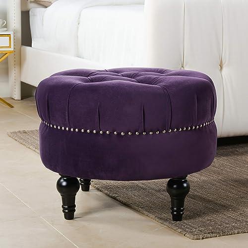 Jennifer Taylor Home Dawn Ottoman, Purple