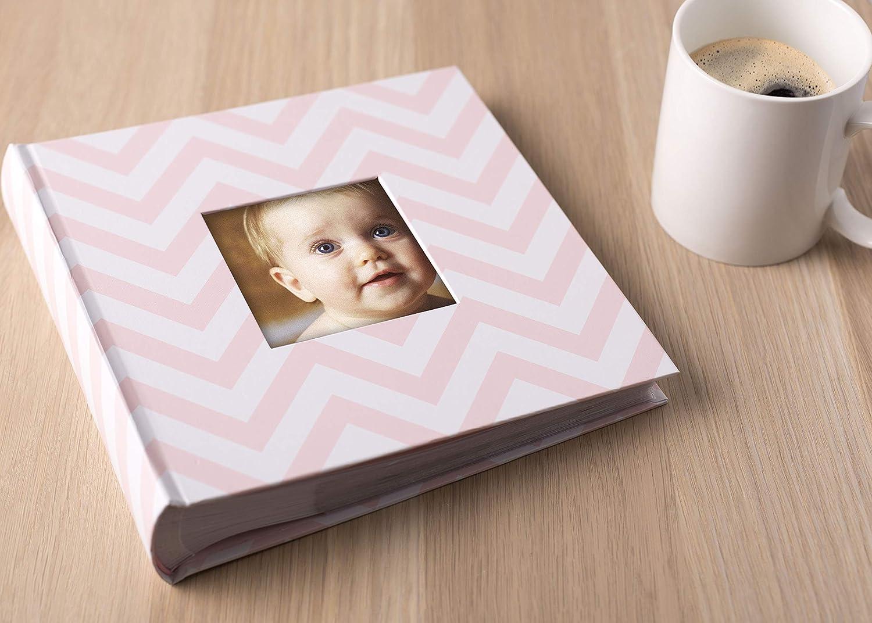 Pearhead Pearhead Chevron Baby Photo Album Light Pink
