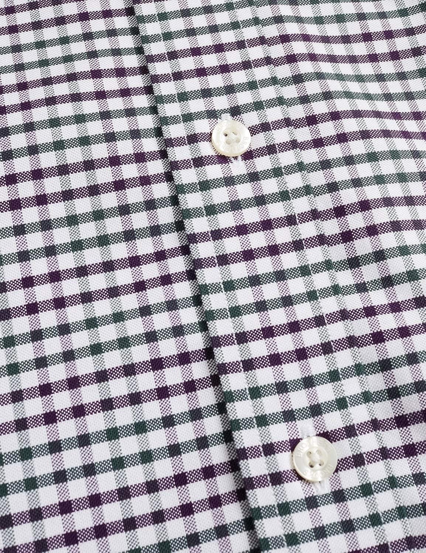 Brooks Brothers Camicia Uomo Non-Iron Milano Fit in Oxford a Quadri