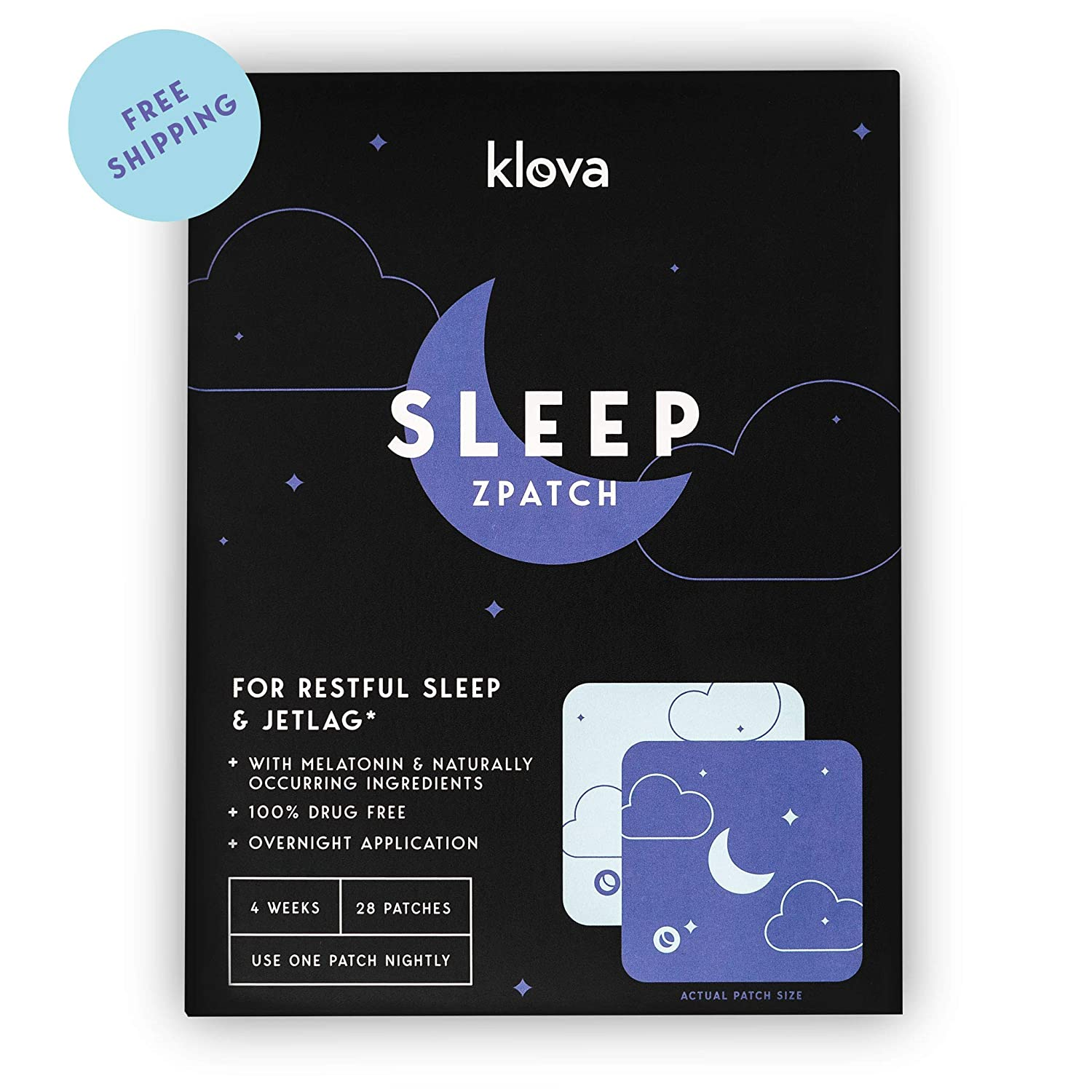 935f22a6e02e8 Amazon.com: Klova Sleep Patch with Melatonin and Natural Ingredients  Promotes restful Sleep and eliminates Jet lag: Health & Personal Care