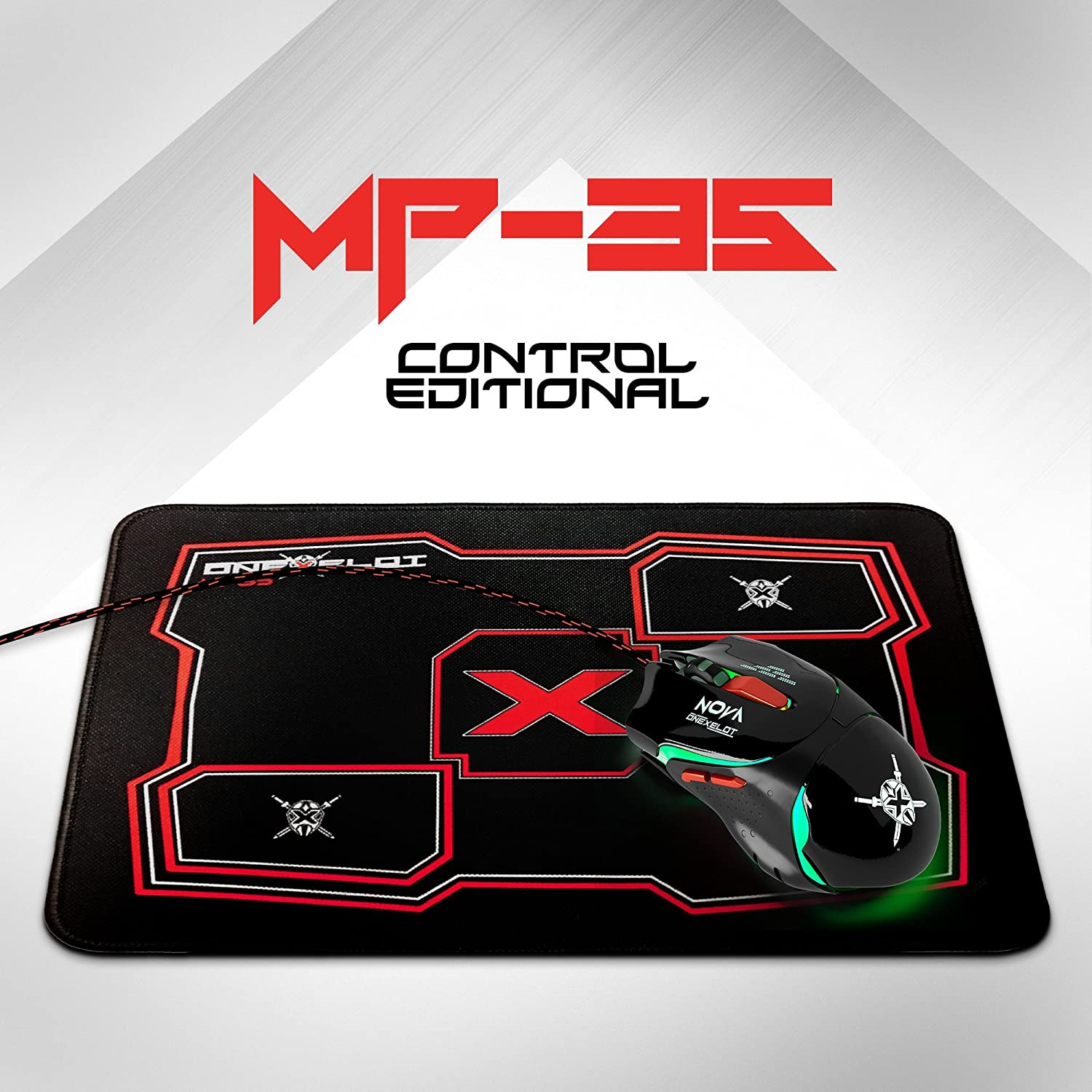 Stitched Edges ONEXELOT MP-25-Z Gaming Mouse Pad,Waterproof Ultra Thick Silky Smooth