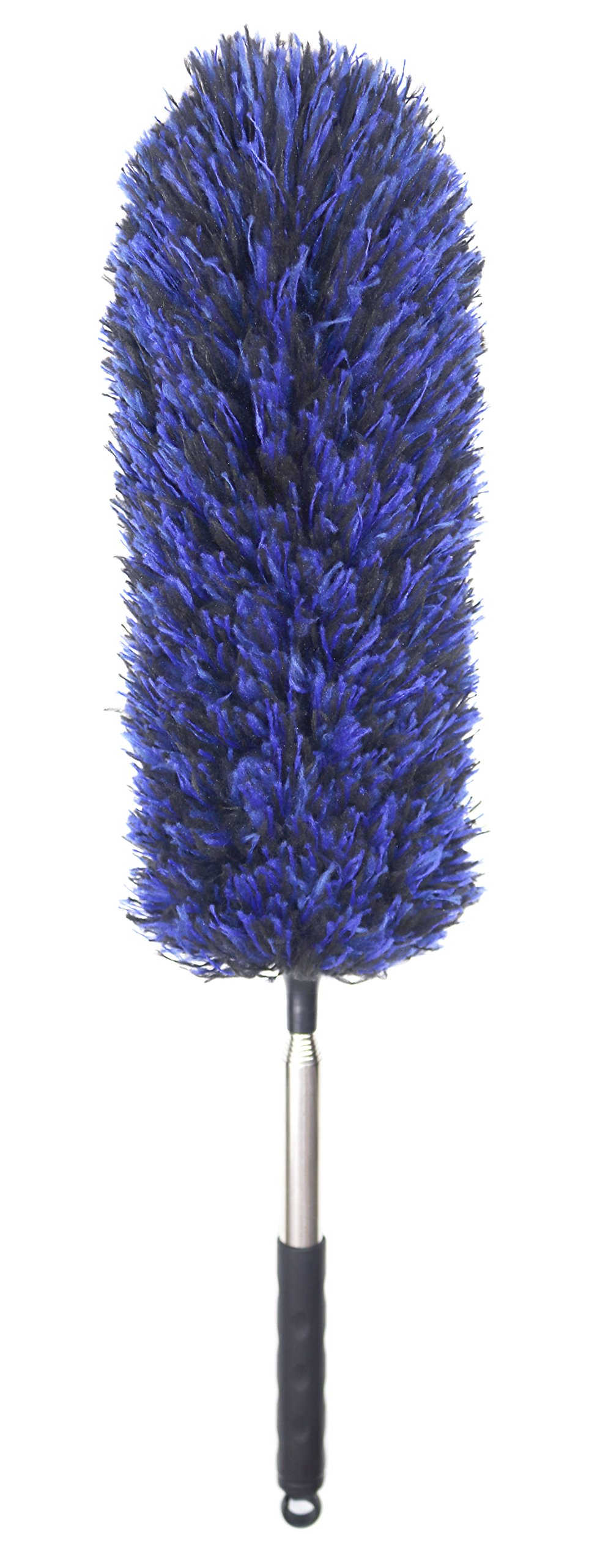 FO&OSOBEIT Straight Feather Duster Telescopic Pole Microfiber Duster Telescoping Handle Flexible Bendable Washable Hypoallergenic