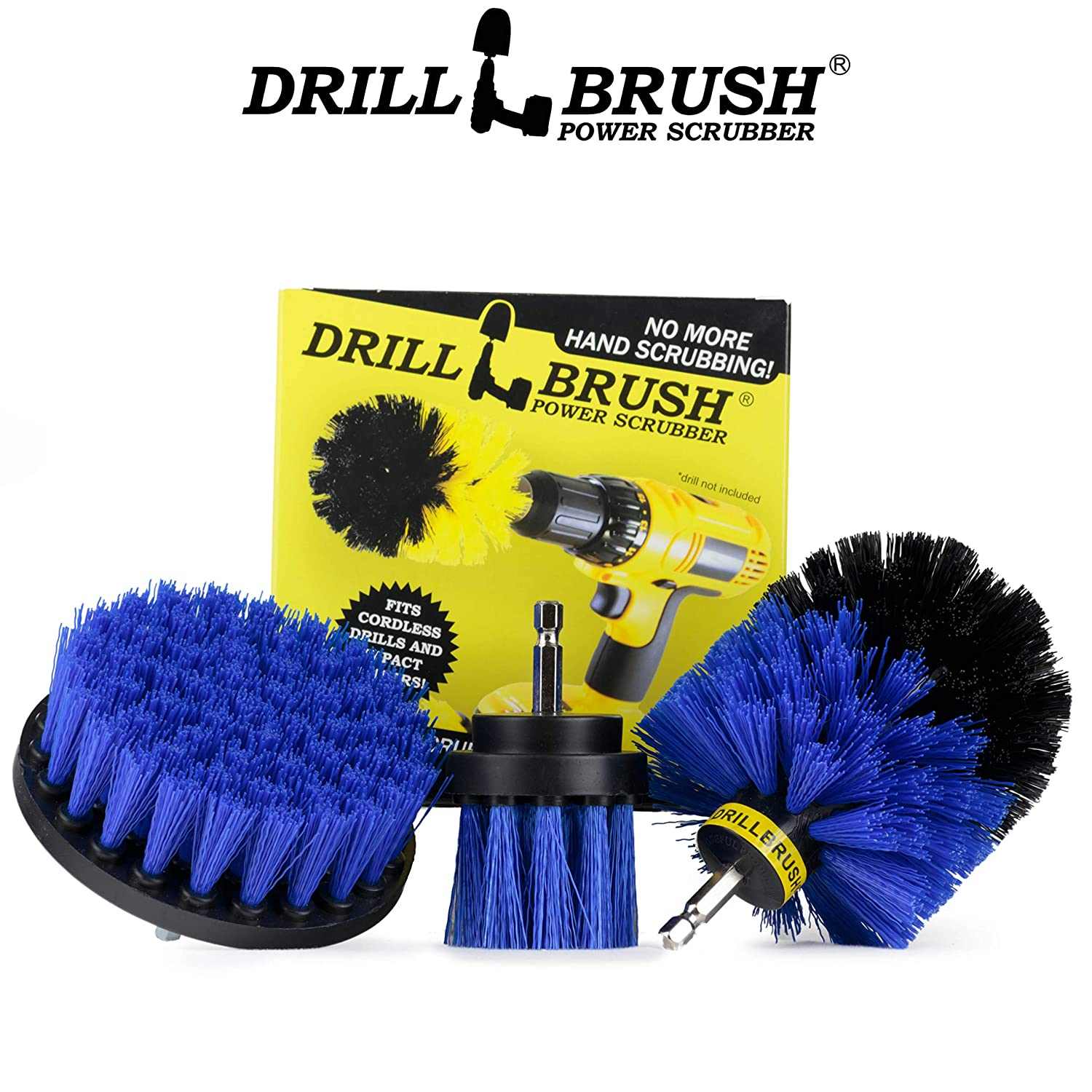 Grill Brush Drill Brush Kit Drill Brush Attachment for Cleaning Cleaning Drill Brush Set Original Drill Brush Power Scrubber Drill Brush Drill Brush Attachment Nylon Drill Brush