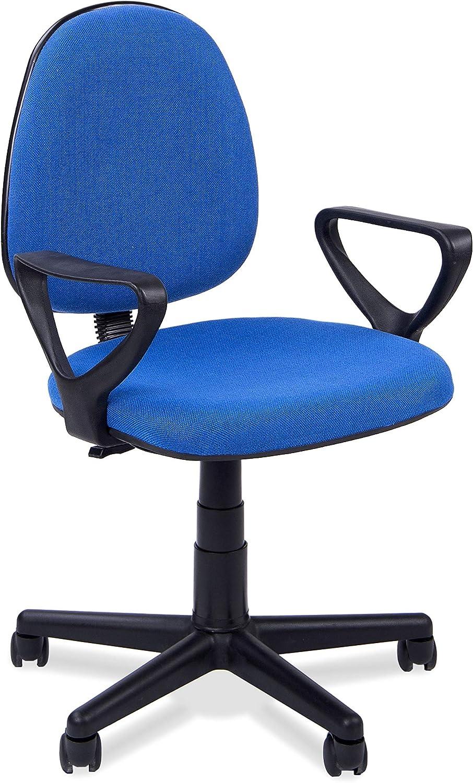 Adec - Danfer, Silla de escritorio, silla de oficina, silla de despacho, acabado en color Azul, medidas: 54 x 79 - 91 cm