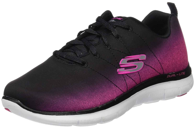 Skechers Damen Flex Appeal 2.0 Sneakers  39 EU|Schwarz (Bkhp)