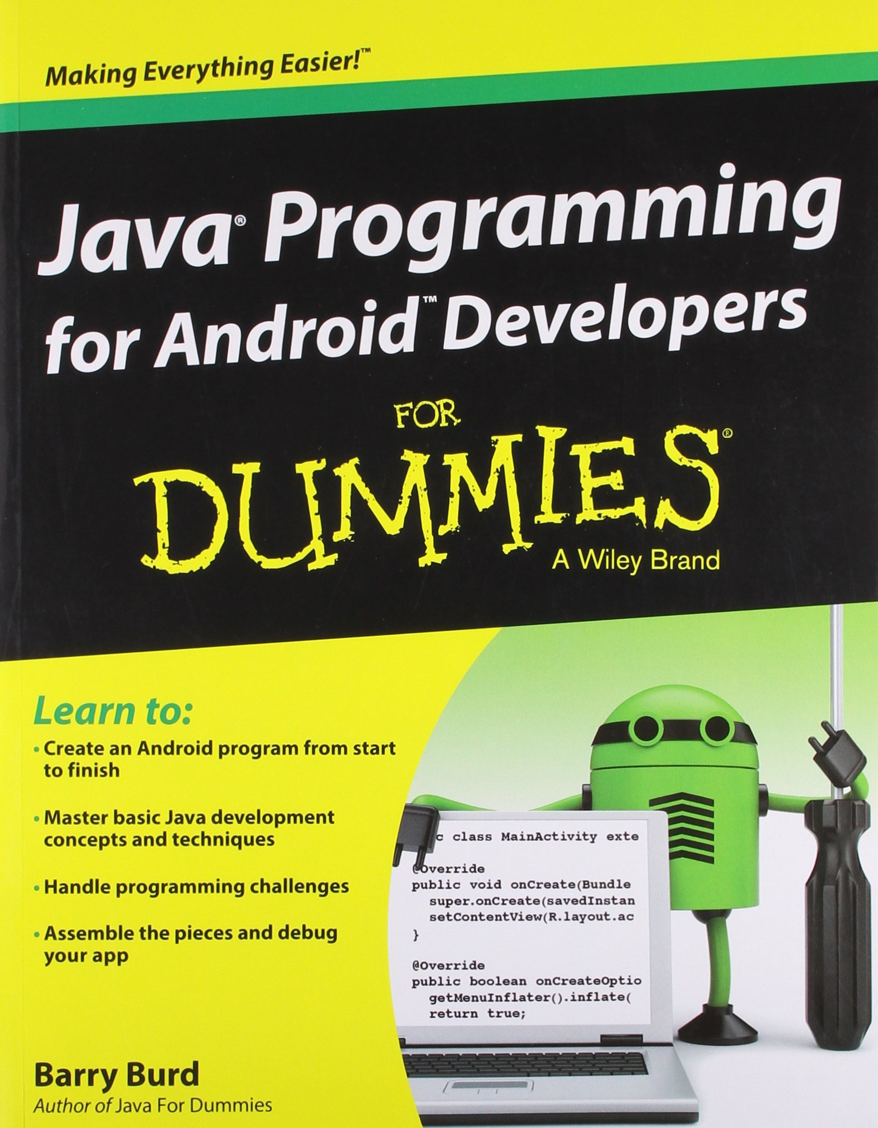 Java Programming for Android Developers for Dummies: Barry Burd:  9788126545964: Amazon.com: Books