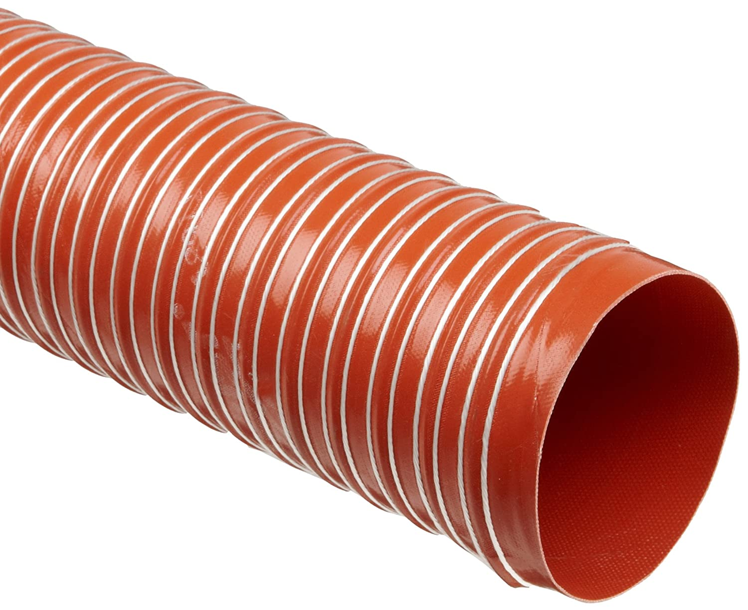 Heat-Flex GS Fiberglass Duct Hose, Iron Oxide Red, For Use With Air, Fume FLECW