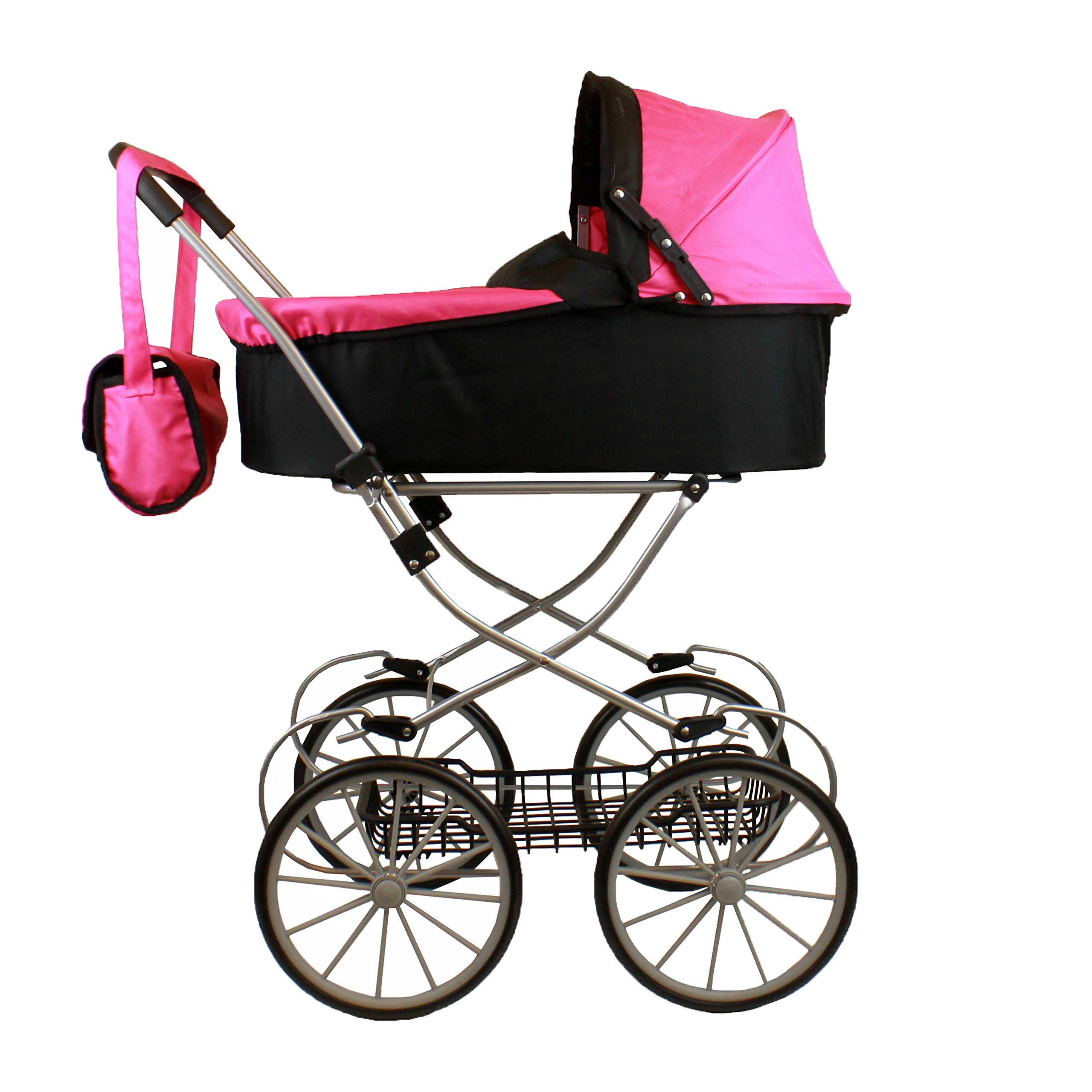 My Sweet princess deluxe pram (32'' high) with FREE carriage bag by Mommy & Me Doll Collection (Image #1)