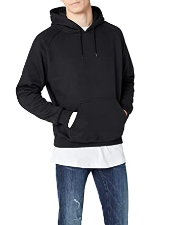 19715b0f788 Urban Classics Mens Hoody TB014 Blank Hoody Color  Black in Size  Small