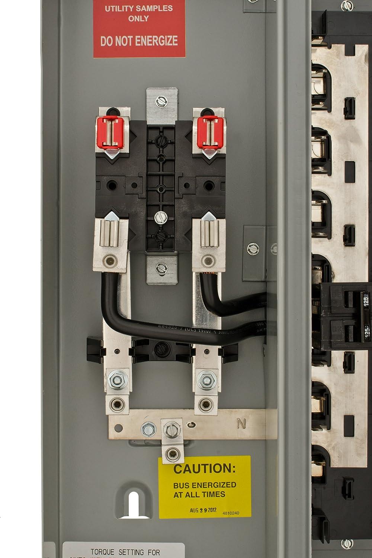 Eaton 100 Amp 12space 24circuit Br Type Main Breaker Meter Breaker