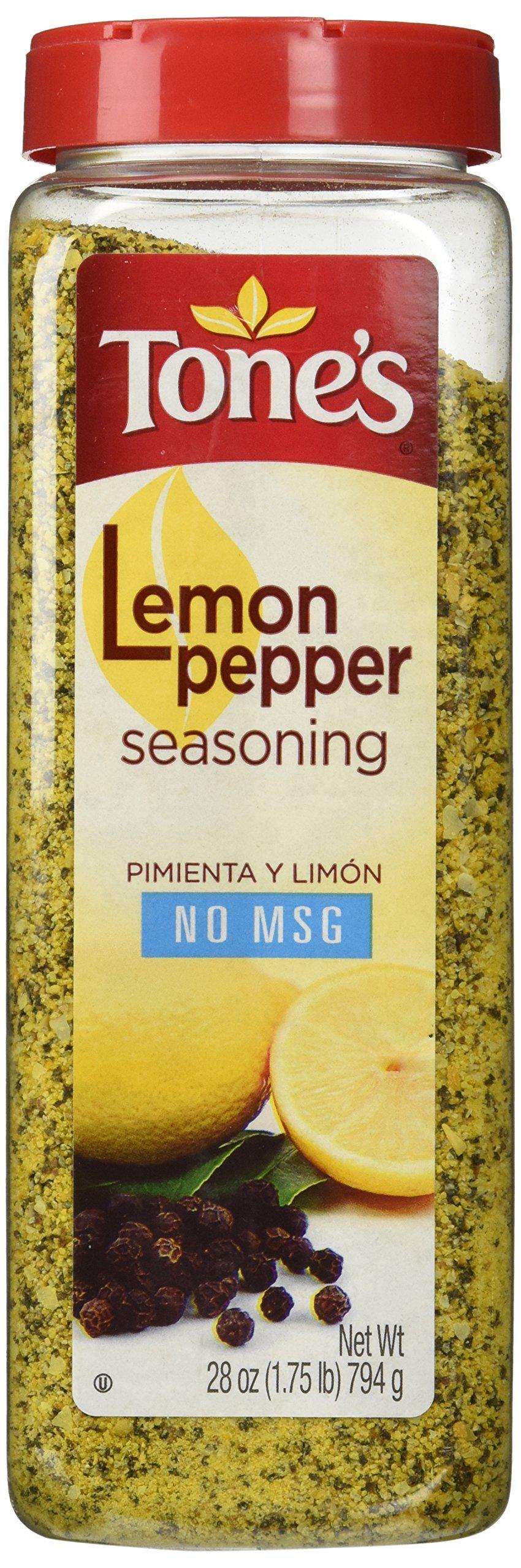 Tone's Lemon Pepper Blend - 28oz shaker