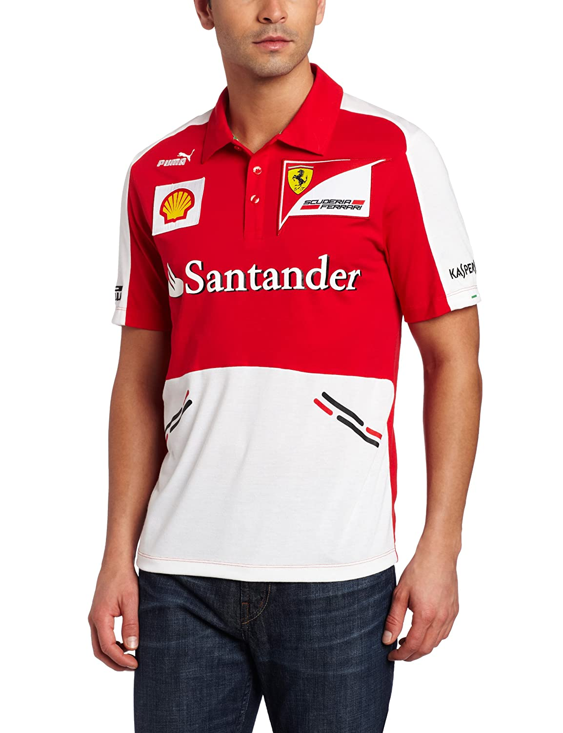 Polo Replica Scuderia Ferrari Team F1 2013 Talla S: Amazon.es ...