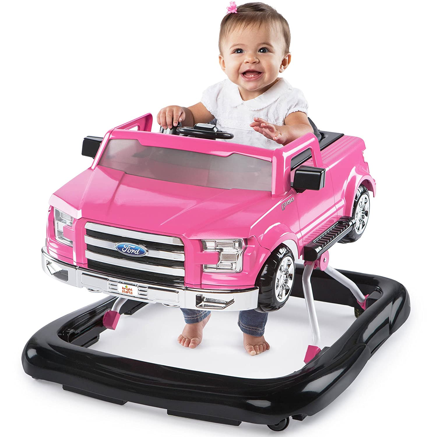 NEW Bright Starts 3 Ways to Play Baby Activity Walker Ford F-150 in Pink Pink