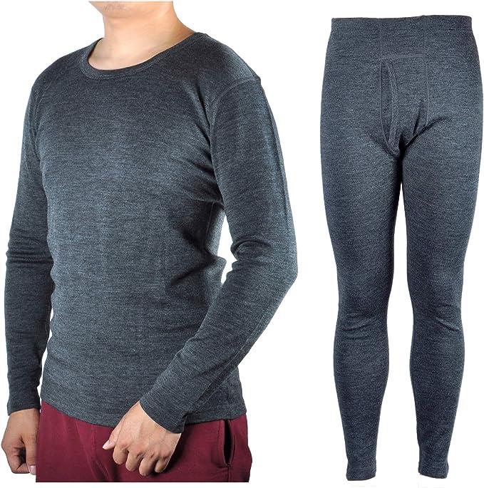 Men/'s Thermal Long Sleeve Top /& Pants Set S M L XL XXL Baselayer Underwear Set