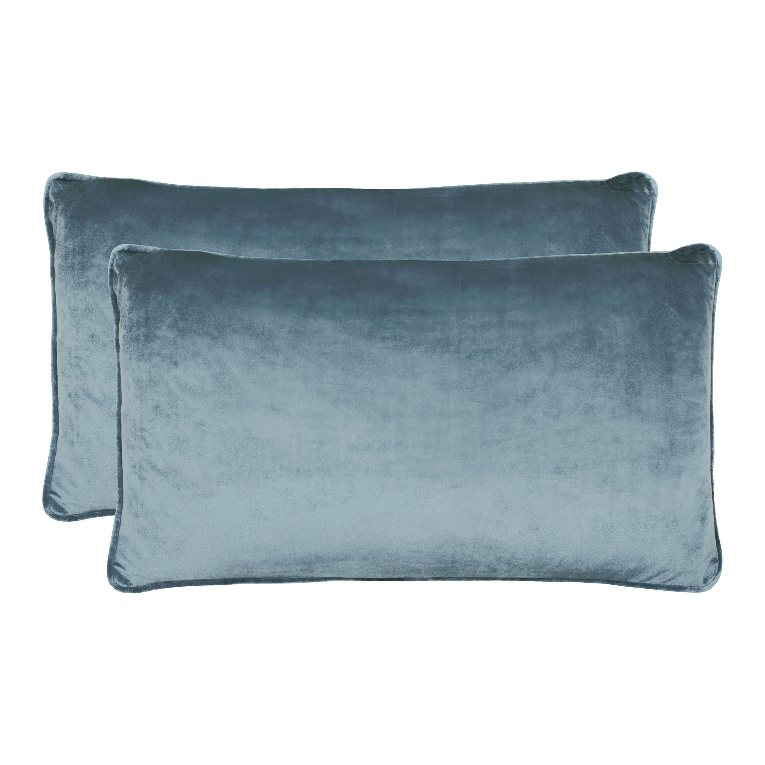 Jean Pierre New York Lucas Lumbar Velvet 2-Piece Decorative Pillow Set, 14in. x 24in, Navy by Jean Pierre New York
