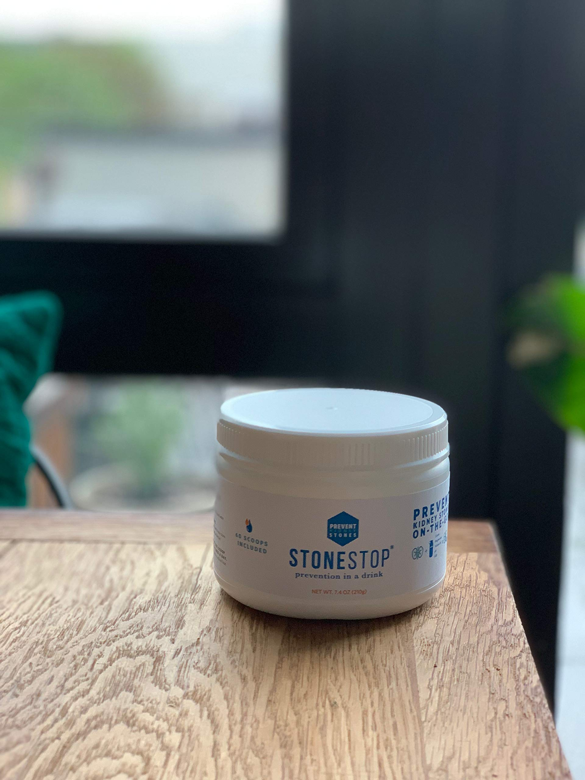 StoneStop - NO More Pain! - Kidney Stone Treatment and Prevention Drink Mix Powder - Exclusive Formula Developed by Urologists - 60 Scoops 7.4 OZ (210g) by StoneStop LLC