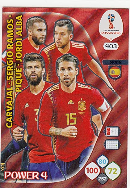 Adrenalyn XL Panini World Cup Rusia 2018 España Power 4: Amazon.es: Deportes y aire libre