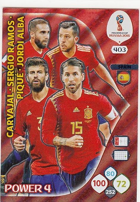 Adrenalyn XL Panini World Cup Rusia 2018 España Power 4: Amazon.es ...