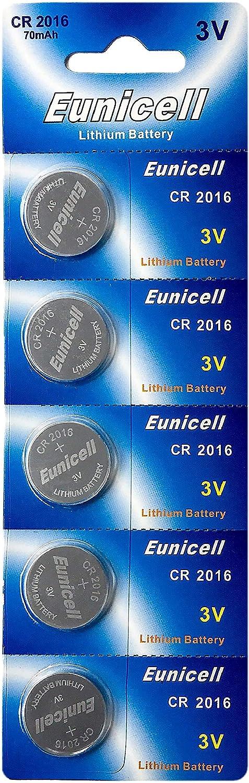 Eunicell 5 X Cr2016 3v Lithium Knopfzelle 70 Mah Elektronik