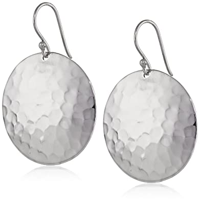 Silverly Women's .925 Sterling Silver Round Hammered 20 mm Disc Dangle Earrings 7zxqzFh