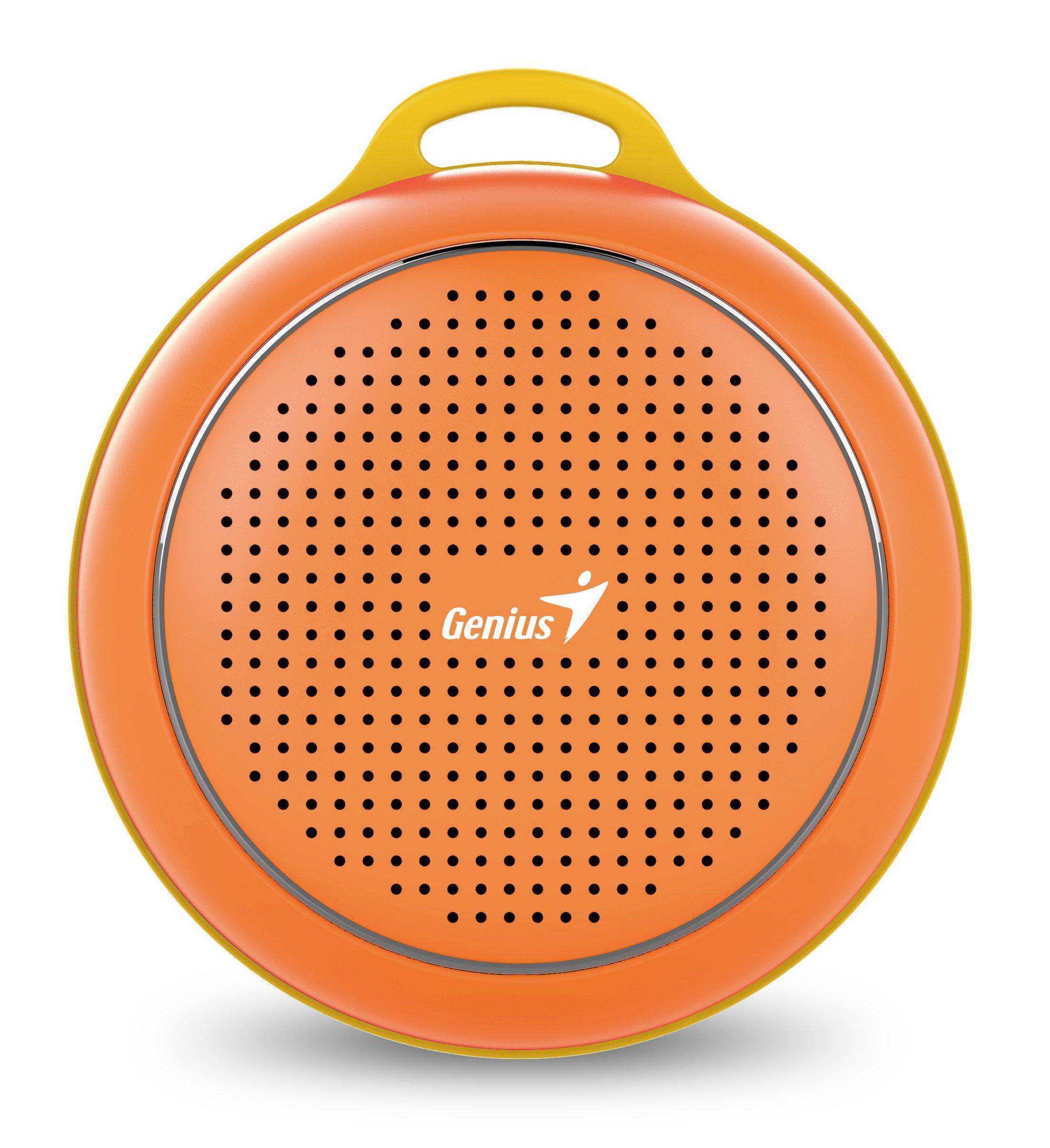 Genius Sp-906btorange Outdoor Bluetooth Speaker, (orange)