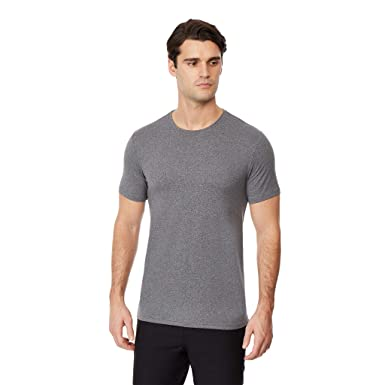 f24754bb92db 32 DEGREES Mens Cool Solid Crew Neck Tee Shirt, Dark Grey Heather, Size  Small