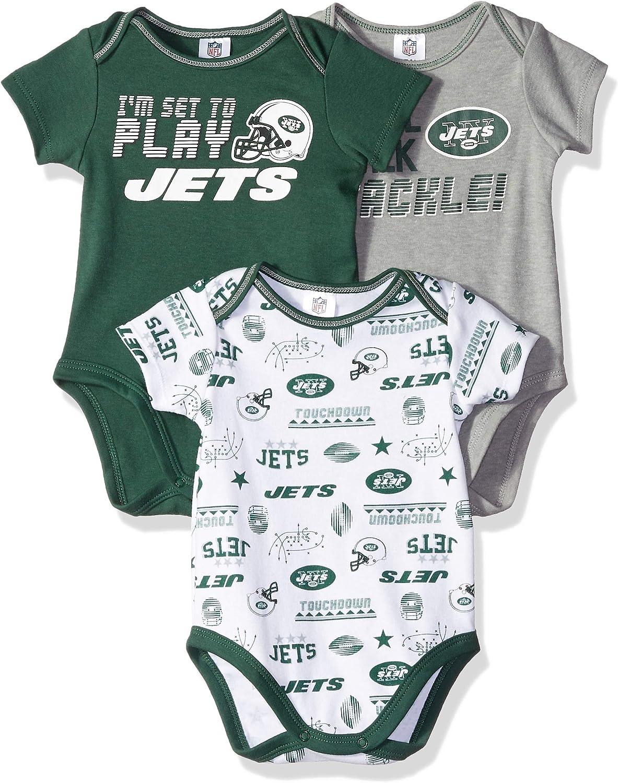 3-6 Months green//white//grey New York Jets NFL New York Jets 3 Pack Short Sleeve Bodysuit