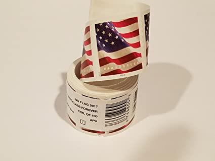 Usps Us Flag 2017 Forever Stamps Roll Of 100