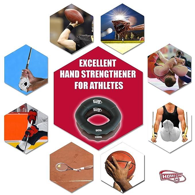 HG4U 3x Entrenador de músculos de Mano, Muñeca, Dedos, Antebrazo - Fuerza de Agarre - Aparato para Ejercicios Musculares y Fortalecedor - Rehabilitación, ...