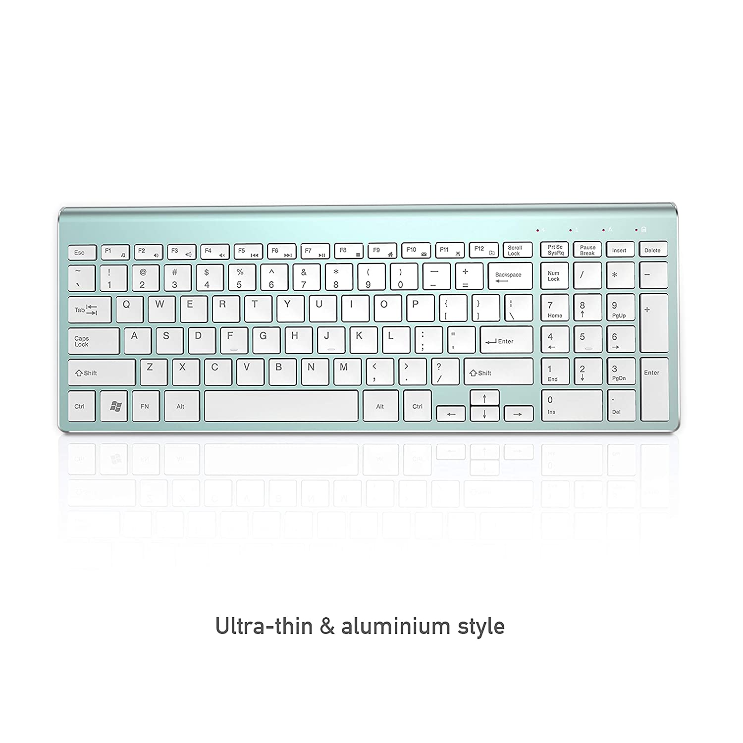Space Gray Compact Full Size Less Noisy Keyboard and Mouse Sleek Design and High Precision 2400 DPI for PC Wireless Keyboard Mouse