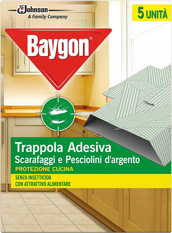 Baygon - Trampa adhesiva para cucarachas, protección de cocina, 62,5 g