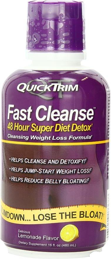 Amazon Com Quicktrim Fast Cleanse Lemonade Flavor 16 Fluid Oz