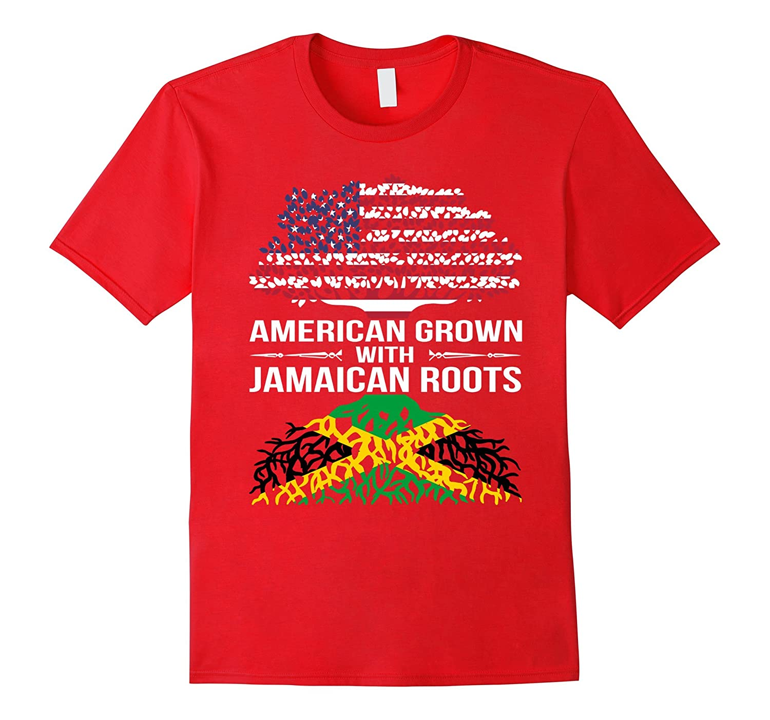 American Grown With Jamaican Roots gift T-Shirt-CL