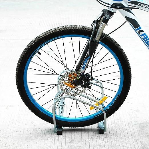 FEMOR Aparca Bicicleta Soporte Para Bicicleta Suelo Pared Aparcamiento de bicicletas Parking de 2 Bici: Amazon.es: Coche y moto