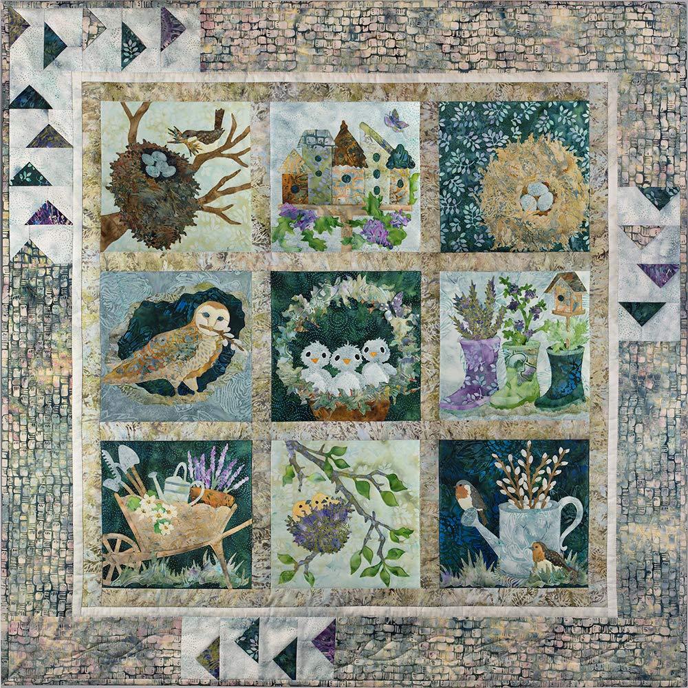 Nesting McKenna Ryan 9 Blocks + Border Quilting 10 Patterns Set by McKenna Ryan