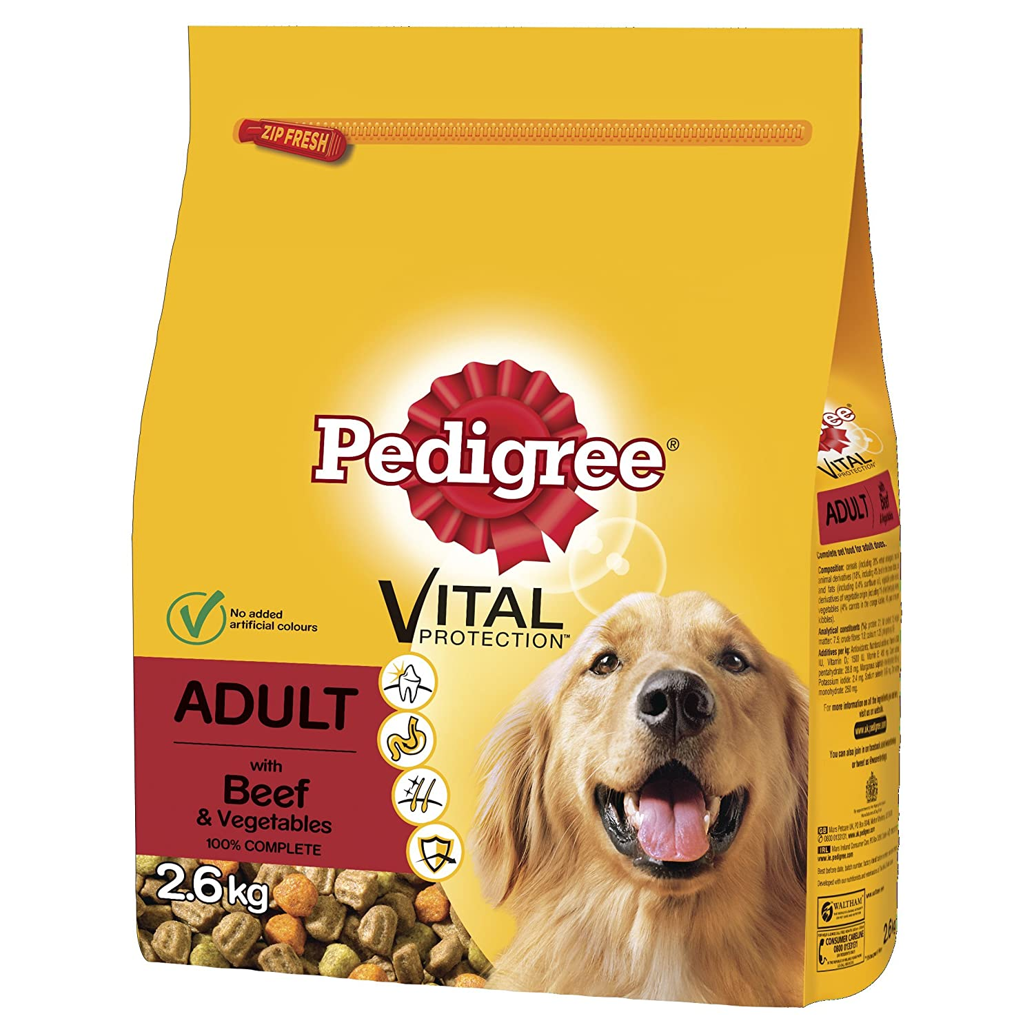 Pedigree Dog Complete Dry with Chicken and Vegetables, 12 kg Mars Petcare UK Ltd 351023