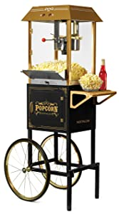 Nostalgia CCP1000BLK Vintage 10-Ounce Commercial Popcorn Cart - 59 Inches Tall