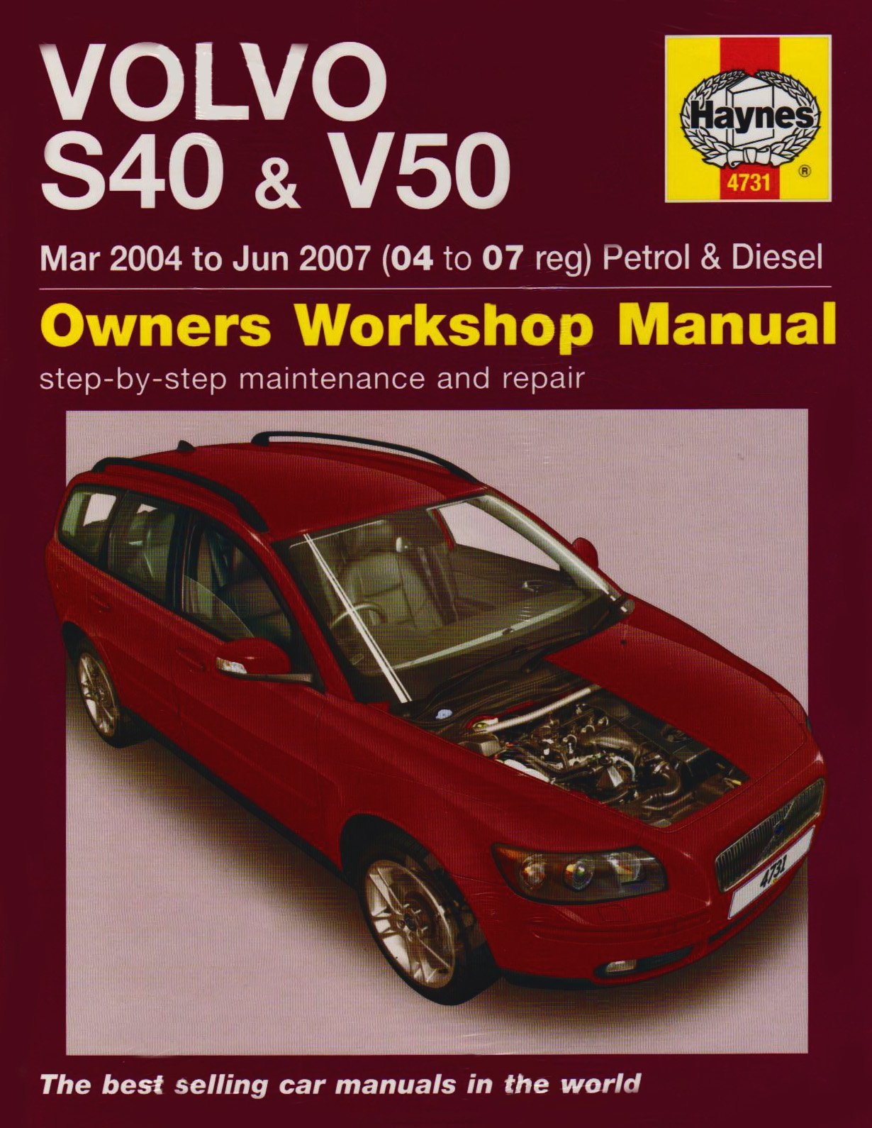 volvo s40 and v50 petrol and diesel service and repair manual 2004 rh amazon com 06 Volvo S40 Turbo 2004 Volvo S40 Turbo