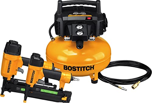 BOSTITCH Air Compressor Combo Kit, 2-Tool BTFP2KIT
