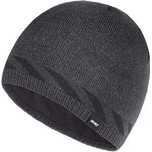 35c3f814602 Bodvera Mens Winter Beanie Hat Warm Knit Cuffed Plain Toboggan Ski Skull Cap  4 Colors