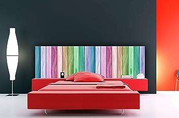 Cabecero Cama PVC Textura Madera Arcoiris 100x60cm | Disponible en Varias Medidas | Cabecero Ligero, Elegante, Resistente y Económico: Amazon.es: Hogar