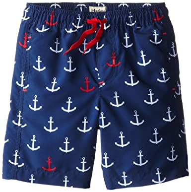 20cde075f7 Amazon.com: Hatley Little Boys' Anchor Swim Trunks, Navy, 2: Clothing