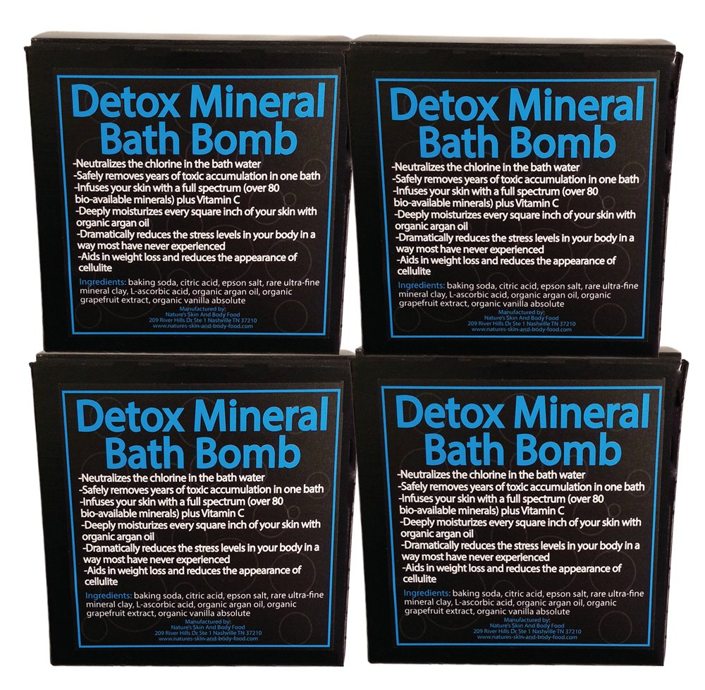 Detox Your Body Mineral Bath Bomb - The Most Effective and Pleasant Detoxification Method You Will Ever Experience - Stimulates Healthy Weight Loss, Repairs Cellulite, Improves Skin Tone, Relieves Stress and Anxiety - Restores Mental and Physical Wellbein